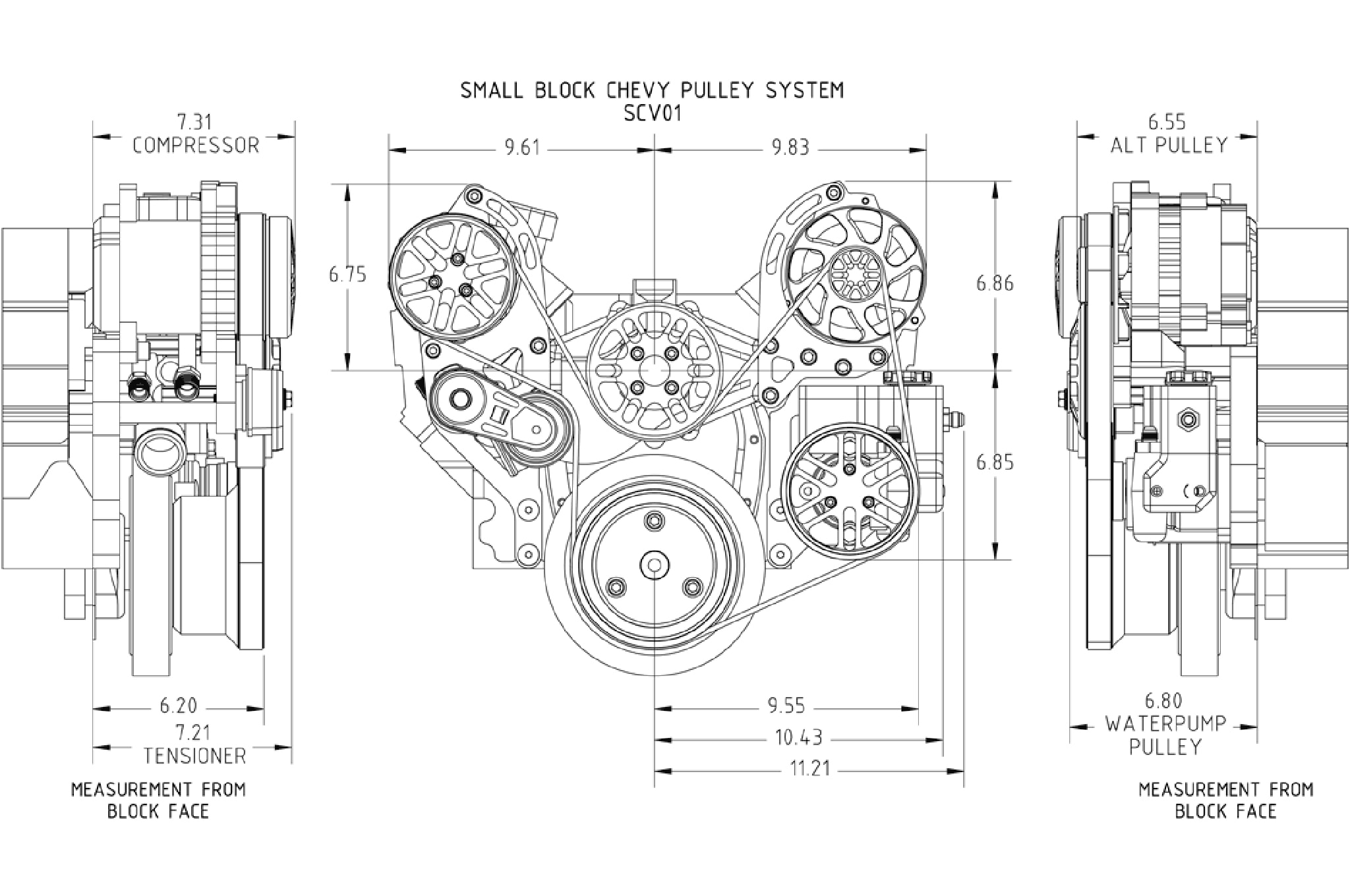 compressor pump diagram power to light then switch modernizing a small-block chevy with concept one pulley system - hot rod network