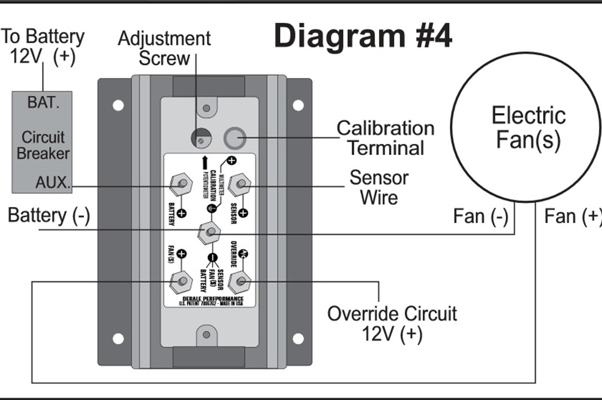 elec fan wiring diagram external voltage regulator the derale controller can save your electrical