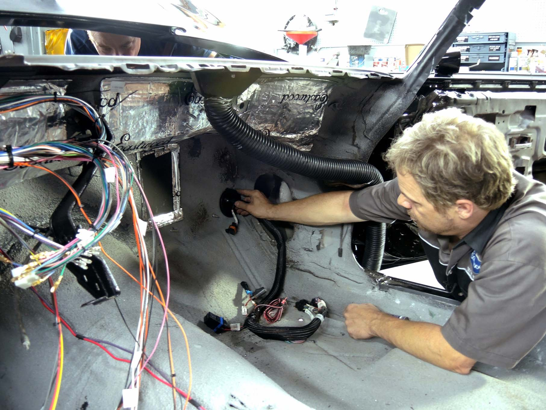 how to rewire a car wiring upgrade for project zedsled car craft s auto wiring shop auto wiring shop [ 1813 x 1360 Pixel ]