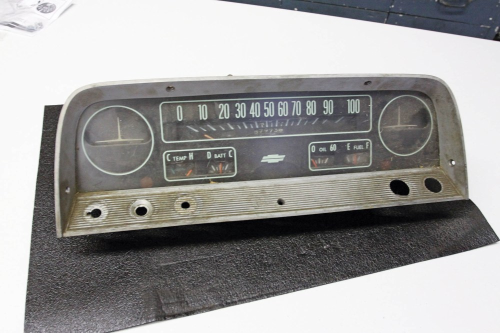 medium resolution of this is the deluxe instrument cluster lmc truck stocks the base model lens face