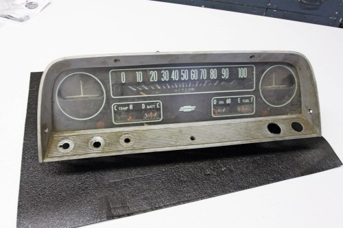 small resolution of this is the deluxe instrument cluster lmc truck stocks the base model lens face
