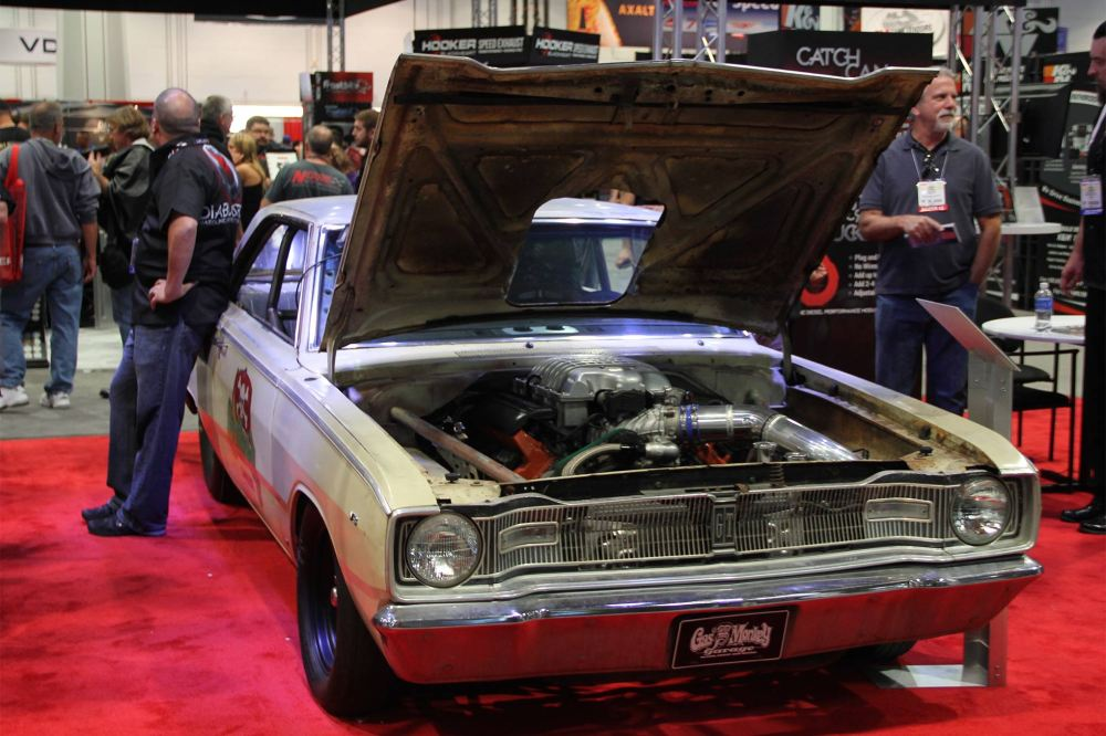 medium resolution of the hellcat powered gas monkey garage 1967 dodge dart reposing at the 2015 sema show