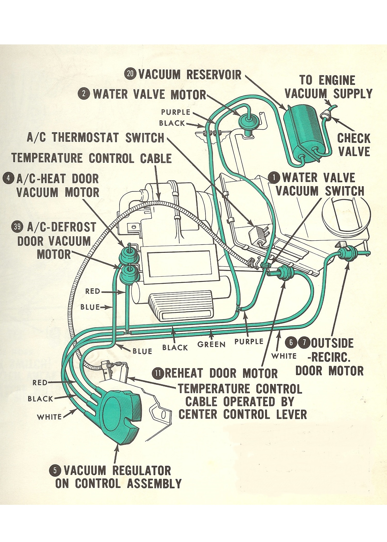 65 Mustang Heater Wiring Diagram Troubleshooting Classic Mustang Climate Control Hot Rod