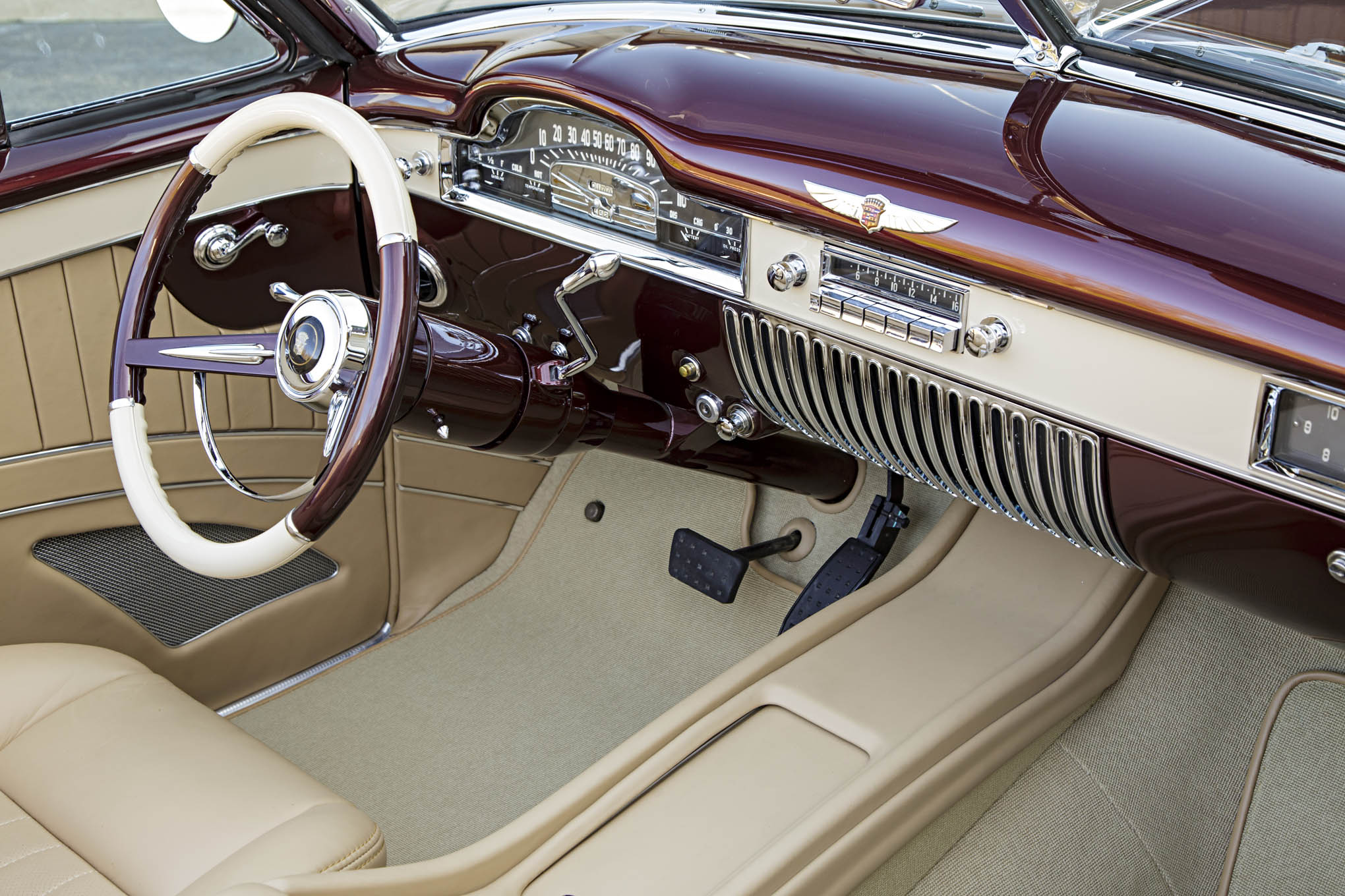 painless wiring ford ka alternator diagram this 1949 cadillac convertible is classic on the outside and contemporary inside - hot ...