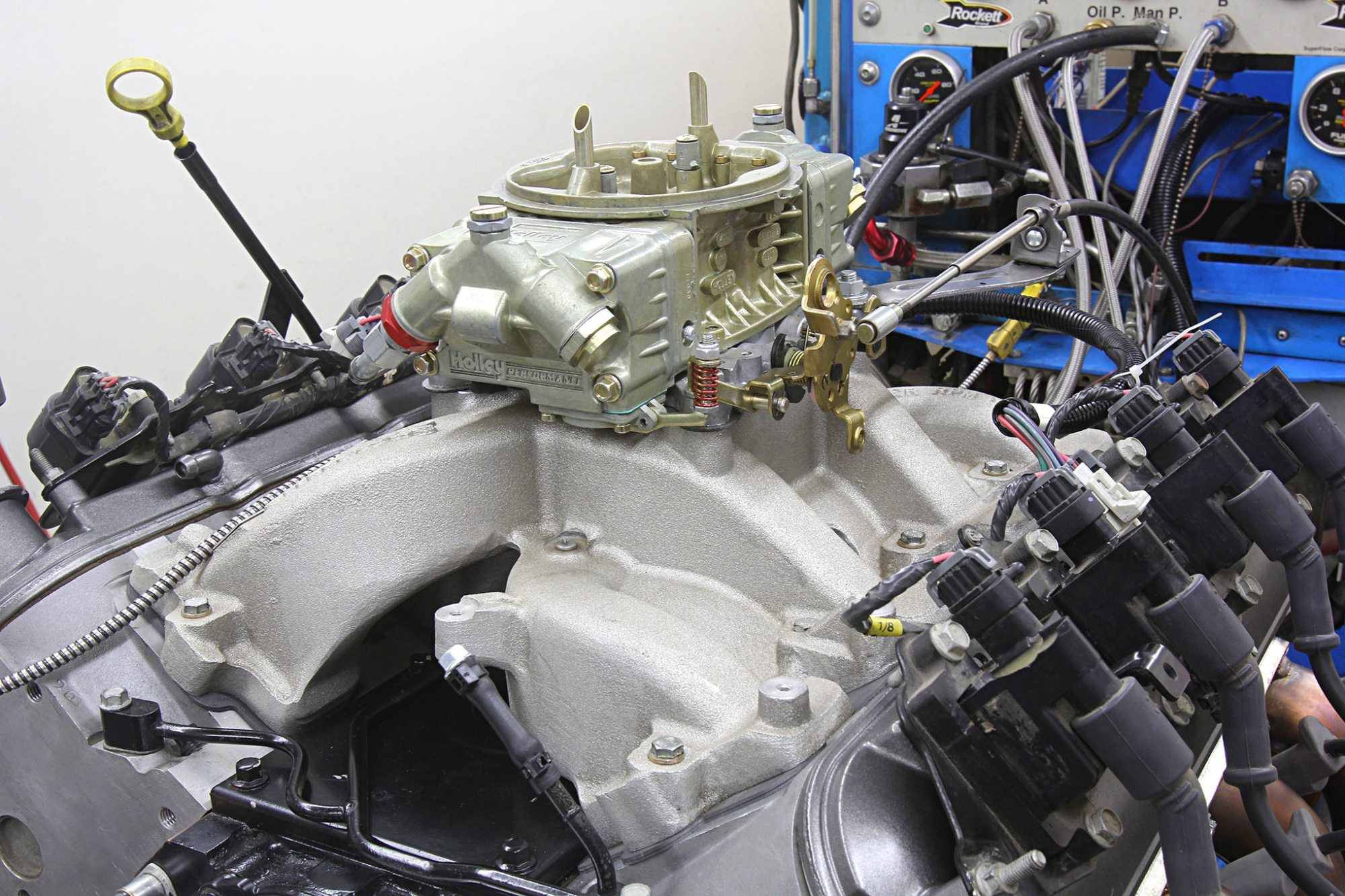 hight resolution of edelbrock performer rpm carbureted dual plane intake arp intake fasteners and a holley 750 cfm hp