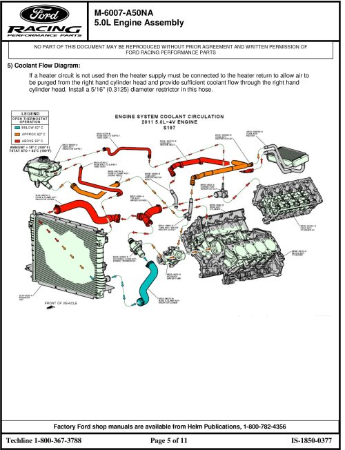 small resolution of 5 0 engine coolant diagram wiring diagram yer ford mustang cooling system diagrams on engine coolant flow diagram