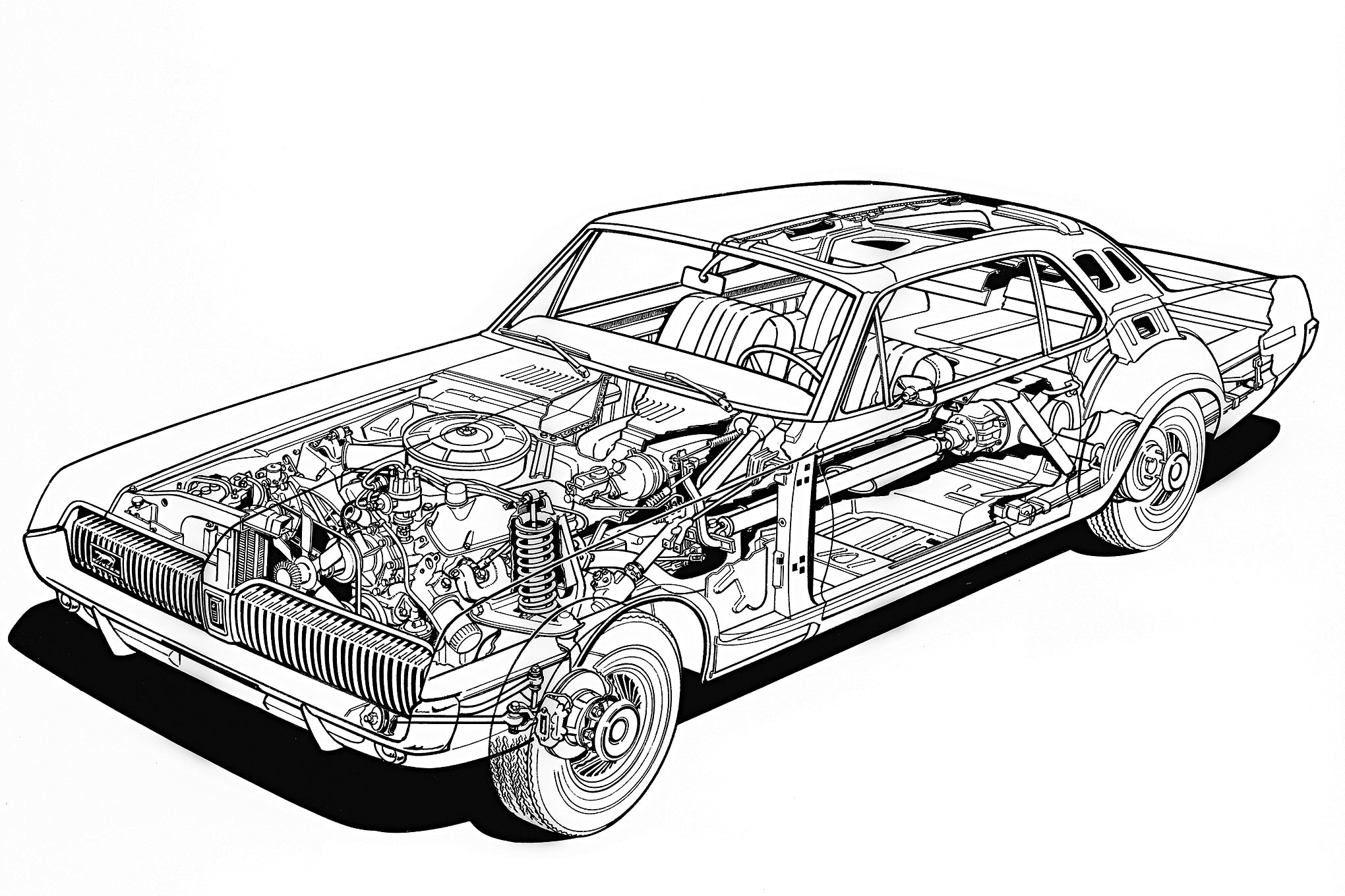 Mercury Cougar Wiring Diagram Sketch Coloring Page