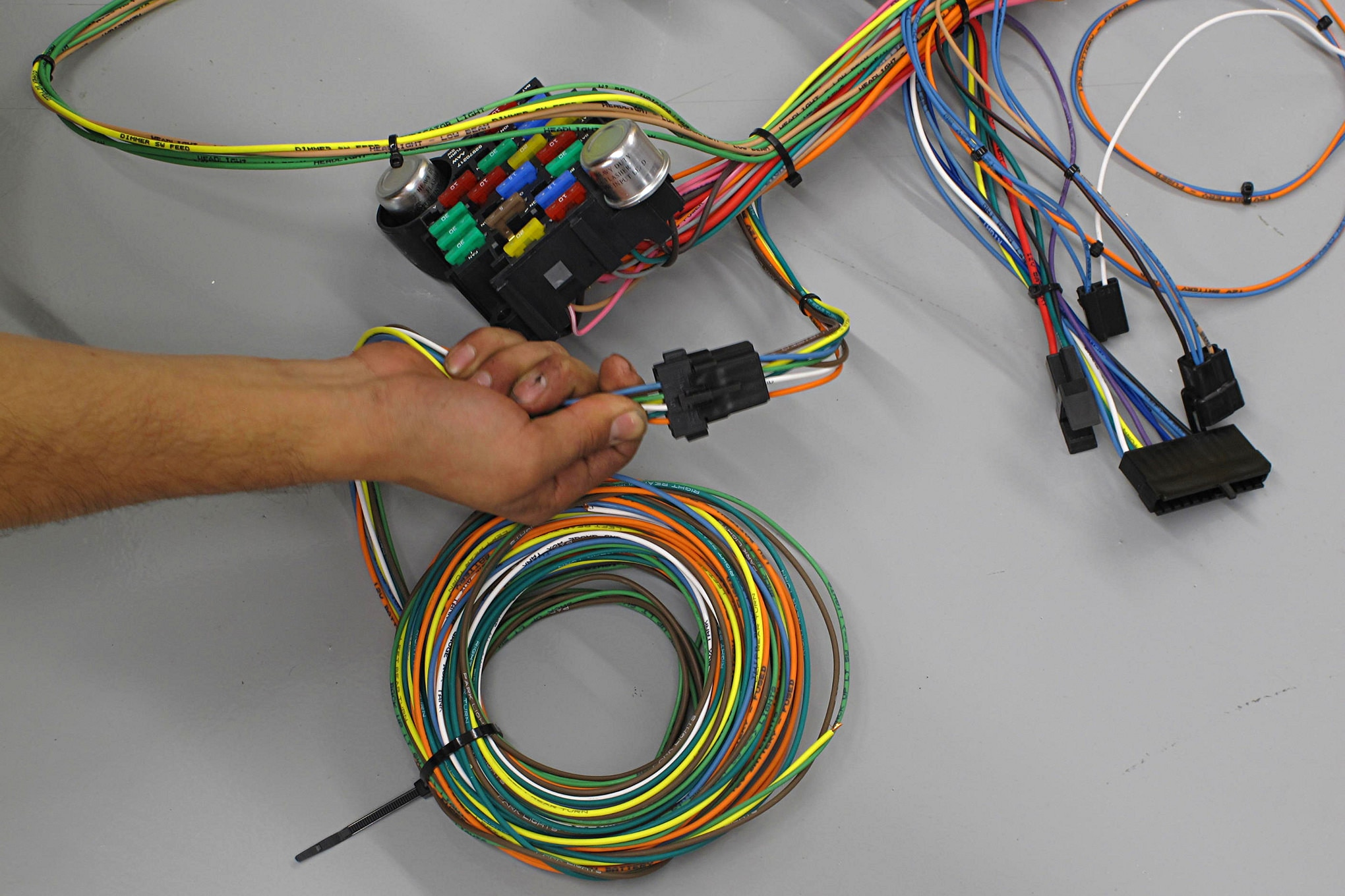 American Autowire Wiring Harness Updating A 1969 Ford F 100 Electrical System Hot Rod Network