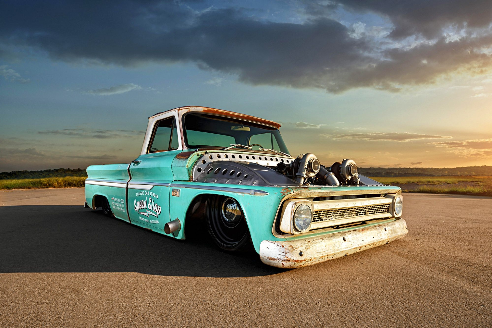 hight resolution of this twin turbo d 1966 chevrolet c10 will make you do a double take