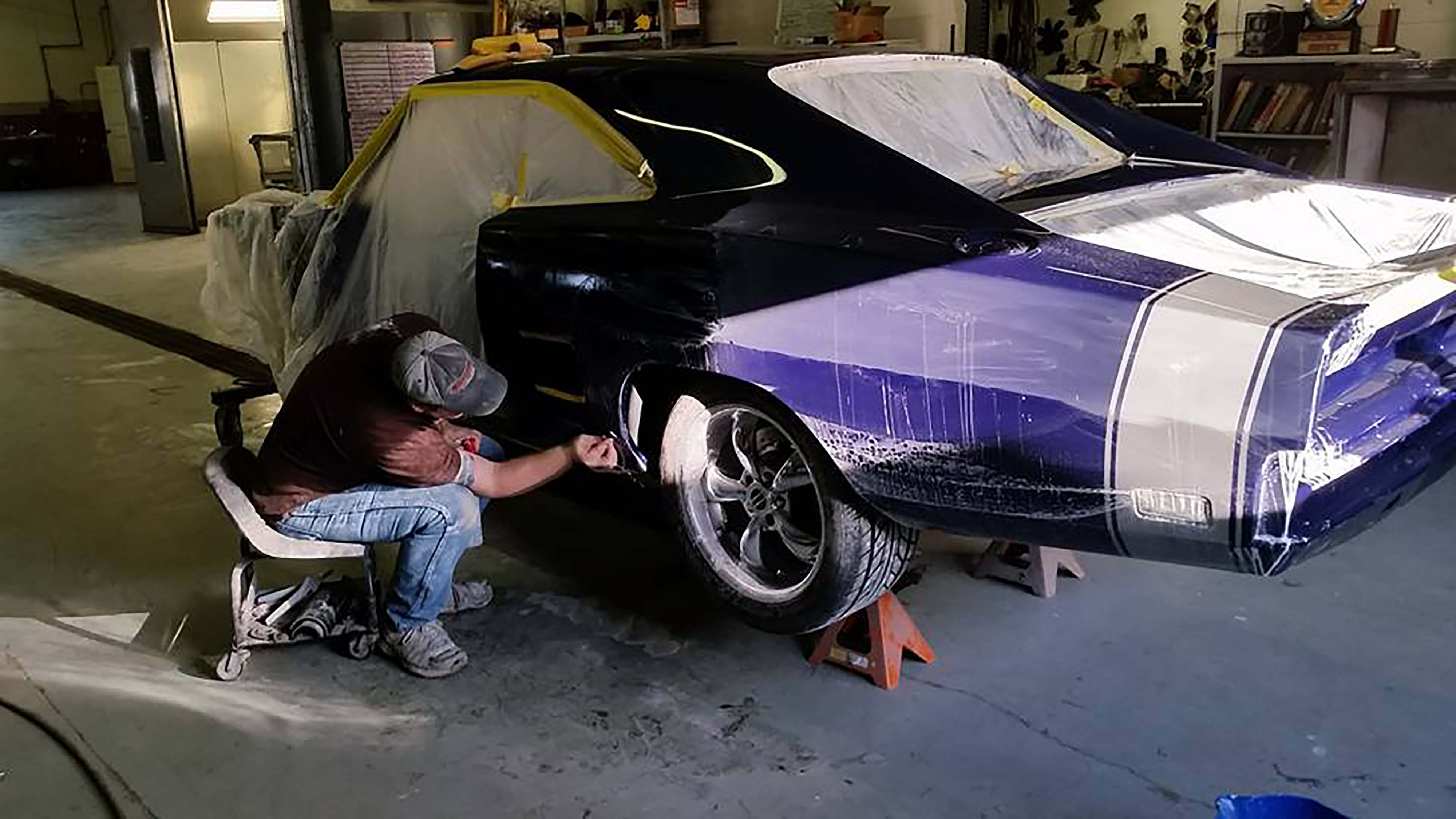 """Webb spent three full days on each quarter panel just sanding and buffing in a process he calls """"top drawer."""" Most shops are not nearly that thorough."""