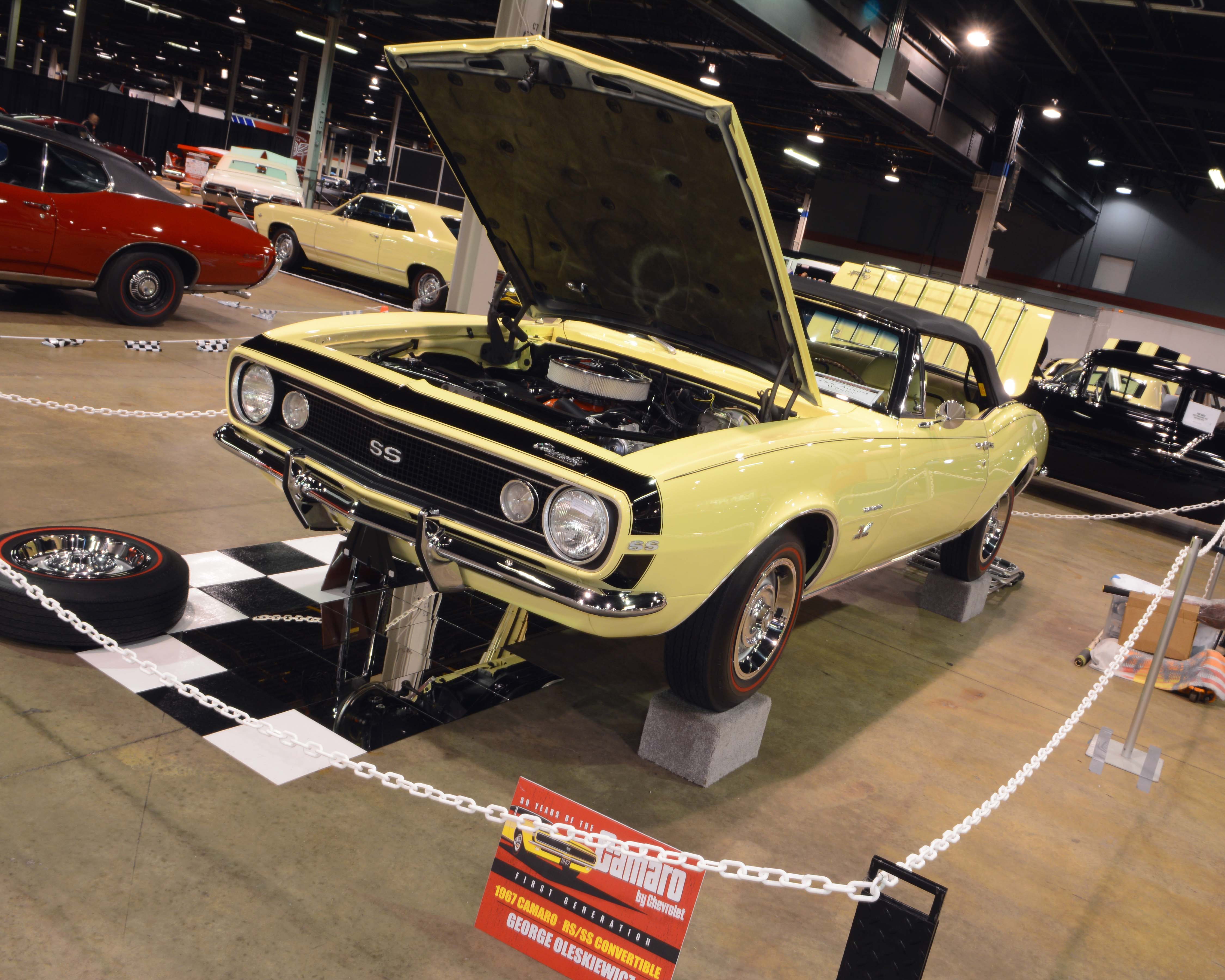 1. Coolest Overall GM – 1967 Camaro L78 Convertible – George Oleskiewicz What, a stock Camaro? In an event that even featured a row of Chevy supercars (Yenko/Motion/COPO etc.), there was something about this car that sets the tone of the entire horsepower era. The Camaro debuted in 1967, and this stunner owned by George Oleskiewicz was certainly beautiful. However, there was much more to it. Beyond being an SS/RS convertible, it is powered by the L78 375-hp 396-ci engine and features a rare color matched interior, and was beautifully refreshed. After being impressed by it from every angle, when we saw it was the event pick of the Brothers Collection (now becoming perhaps the world's greatest private musclecar accumulation), it confirmed a belief that anybody who loves musclecars regardless of their brand preference would have probably happily owned this one.