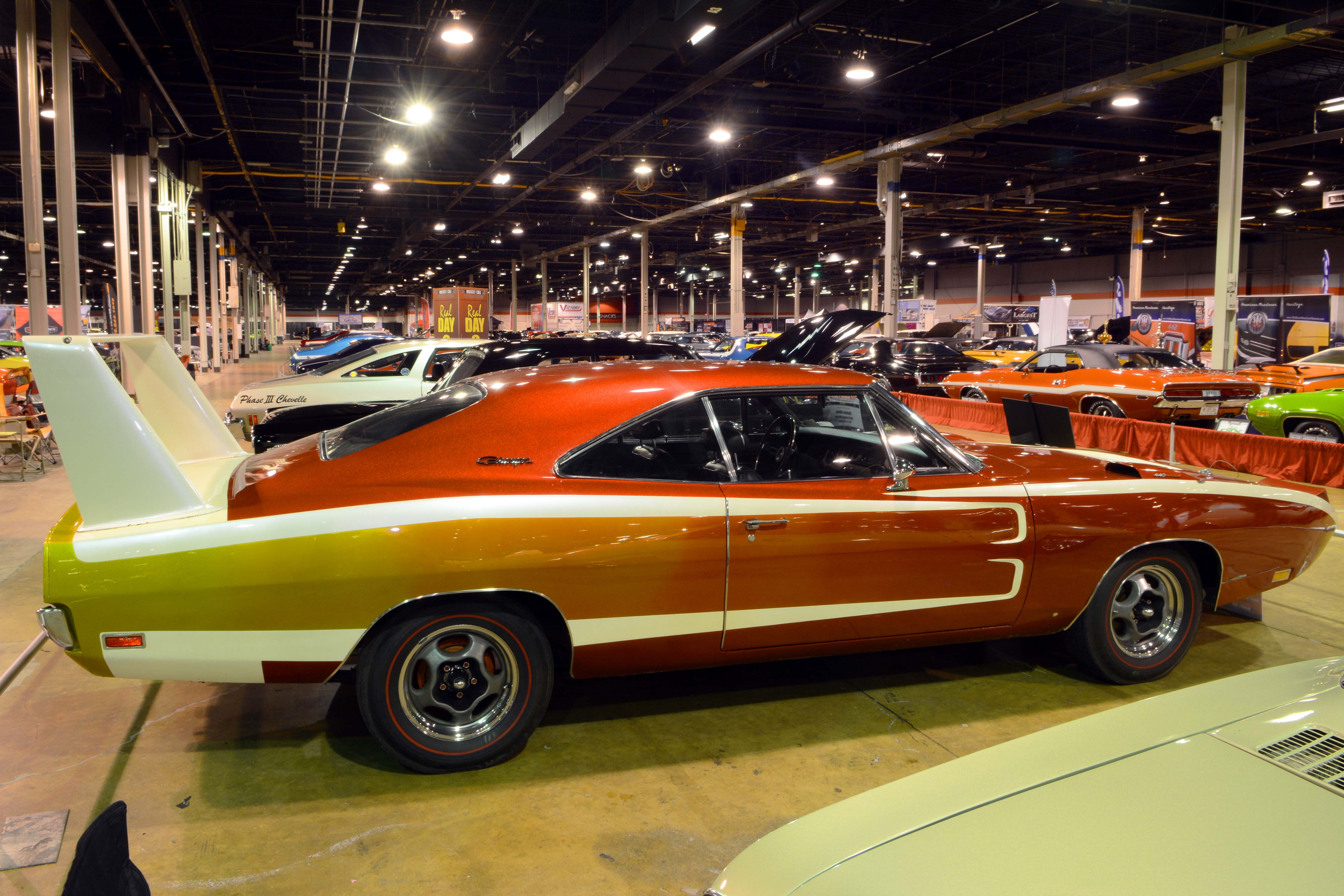 19. Best Day 2 Mopar – 1969 Psychedelic Charger Daytona – Stefano Bimbi There were only a couple of Mopars in this line-up, but this so-called 'Disco Daytona' with its groovy paint was our pick here. All-original driveline (440-375-hp), under 17,000 miles, only three owners since new, impressive paperwork and more only added to its special status; parked in 1972, the aero warrior got a lot of attention here. After all, most cars from this particular release found in such complete condition are expensively restored to stock due to collector prices, so to see Stefano Bimbi's unrestored driver with a 'strobotic' 1960s paint scheme was a treat. And yes, those original Motor Wheel Spyder mags sealed the deal!
