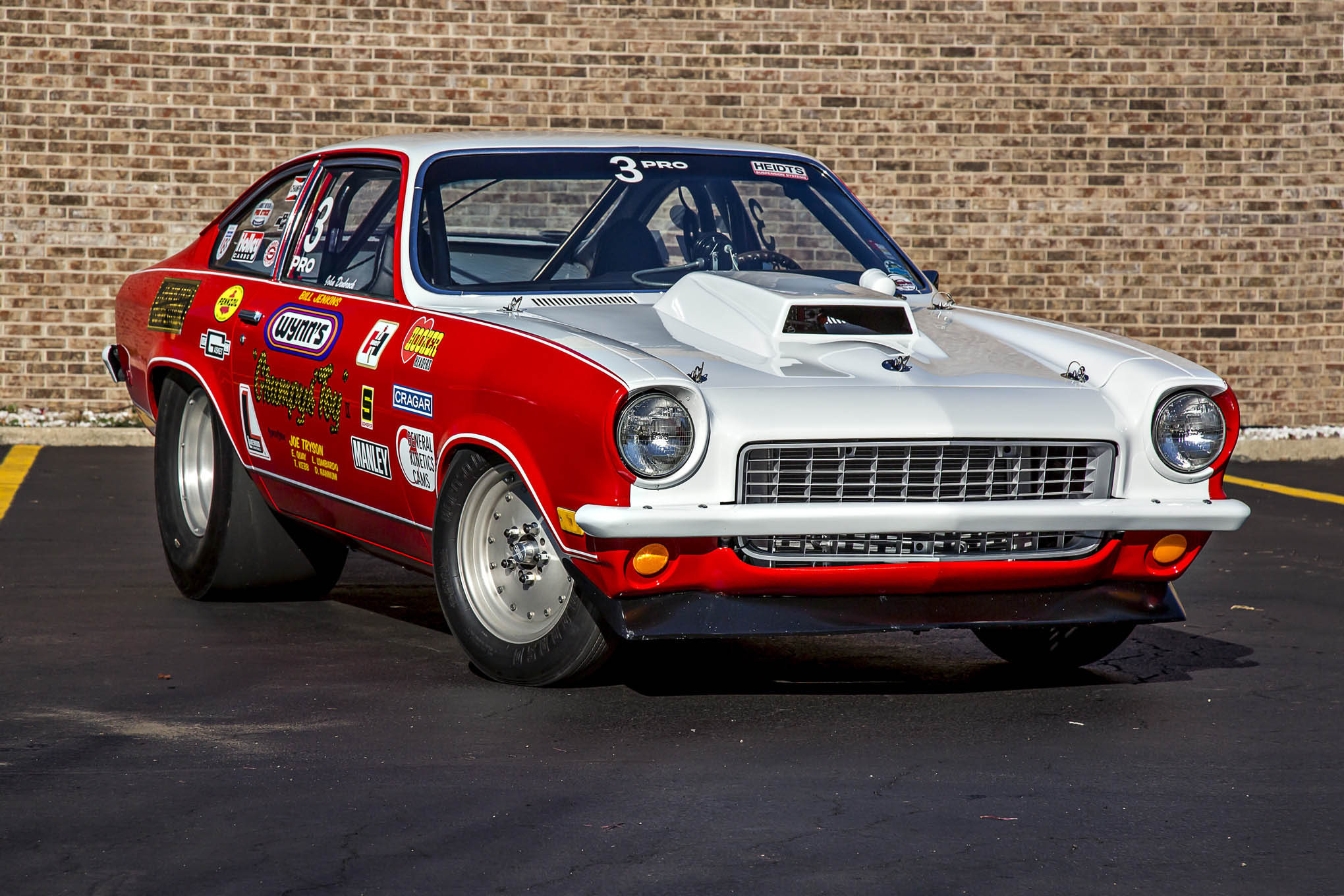 Another Grumpy's Toy, this one being the IX 1973 Vega, a car that originally raced in the 1970s and 1980s before being configured into the Toy in 2012 by current owner John Denbrock. Mid-Towne Collision in Howell, Michigan, handled paint and bodywork, with help from pals Bill and Chris Merrill, Rick Hanifan, and Stacy Karnes.