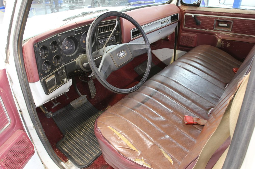 medium resolution of the interior of the c10 was pretty tore up when i purchased the truck the