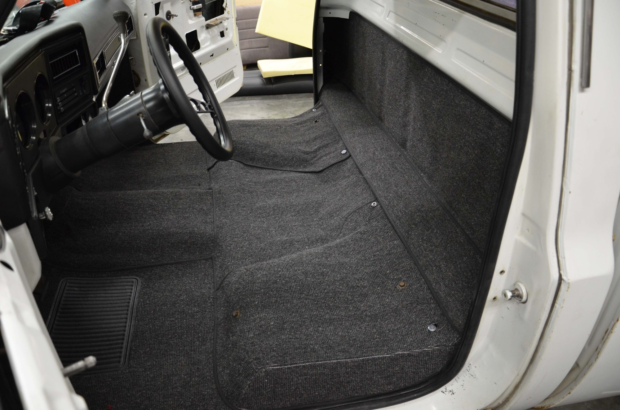 hight resolution of tmi s carpet kit extends up the rear of the cab behind the seats for a finished