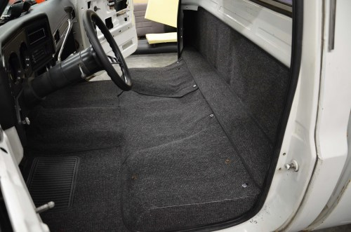 small resolution of tmi s carpet kit extends up the rear of the cab behind the seats for a finished