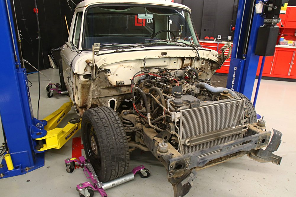 medium resolution of using a set of gojacks they rolled the crown victoria frame under the f