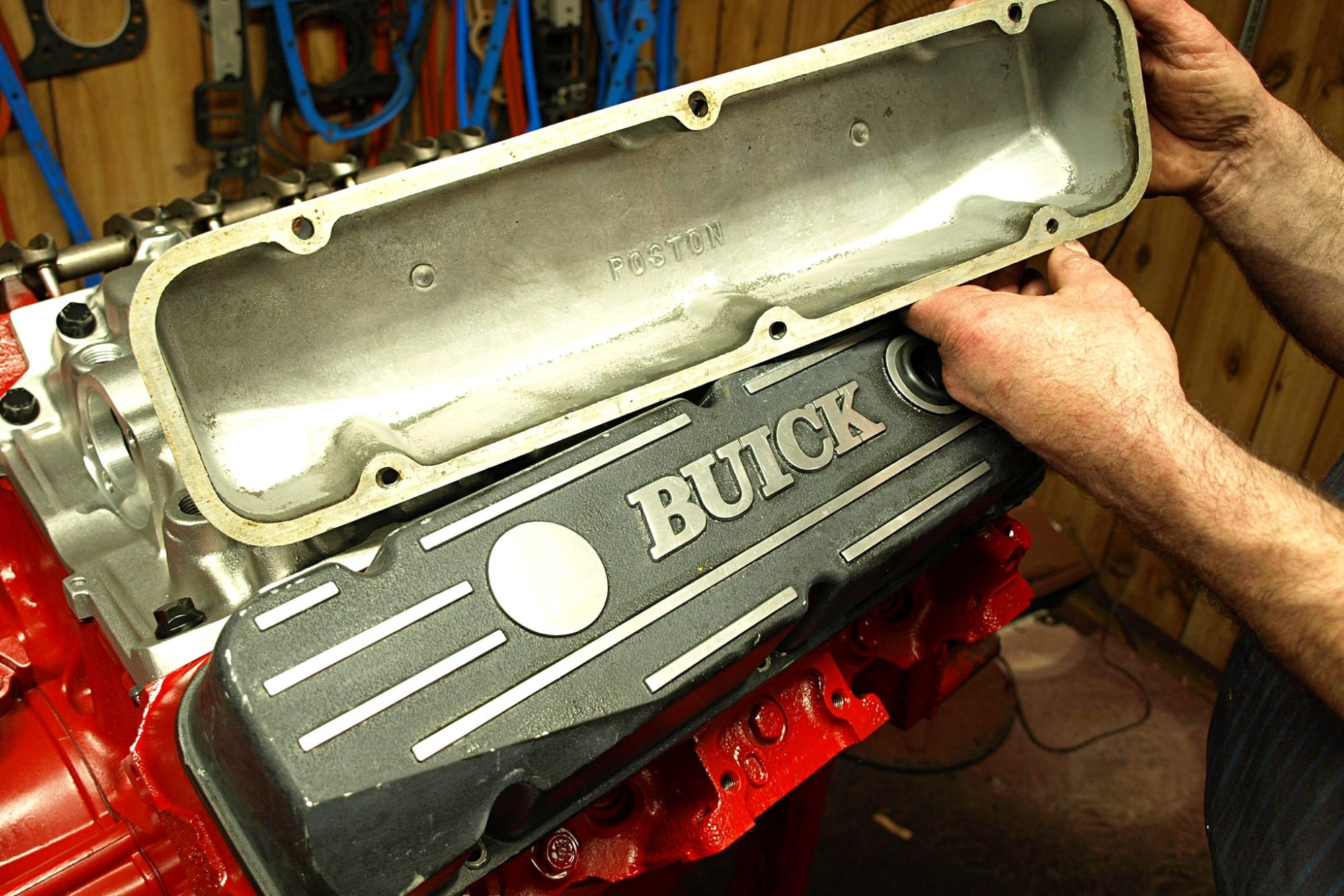 hight resolution of 25 though the stock steel buick 350 valve covers have attractive horizontal ribs and look pretty