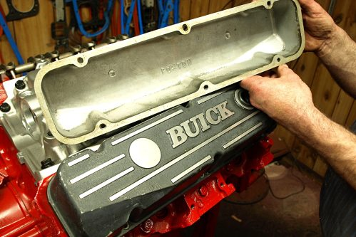 small resolution of 25 though the stock steel buick 350 valve covers have attractive horizontal ribs and look pretty