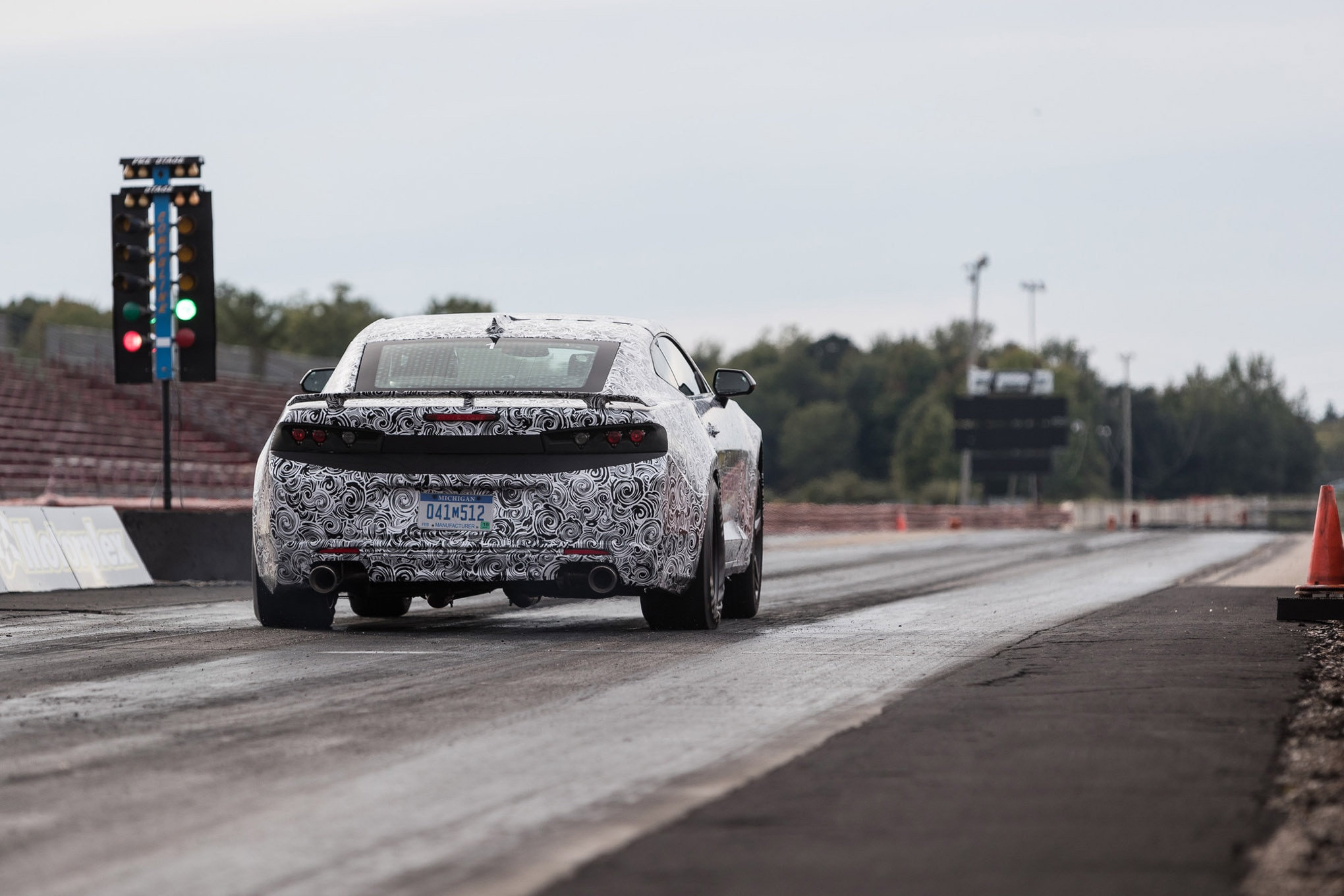 The new torque converter's stall speed is 4,200rpm, about 30 percent higher than a stock Camaro SS . The ability to launch harder, combined with additional grip, resulted in a best 60-foot time of 1.425 seconds.