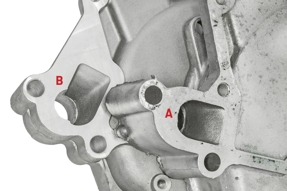 medium resolution of 04 generally hole style a is the most common style b is for some reverse rotation efi truck engines but sanchez claims he s seen either style used with