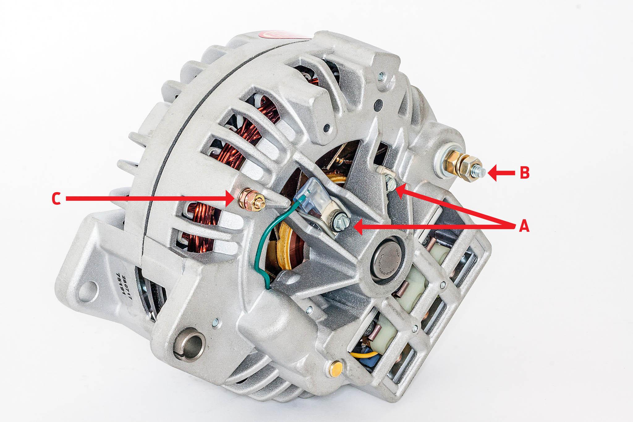 one wire alternator wiring diagram mopar lamp powermaster