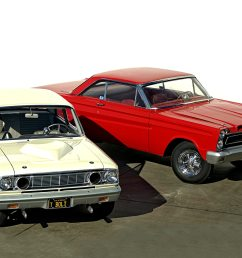 1964 ford fairlane thunderbolt and 1965 mercury comet cyclone represent ford drag racing history of the mid 1960s [ 2040 x 1360 Pixel ]