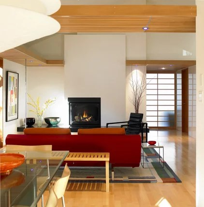 contemporary living room by Works Photography Inc.