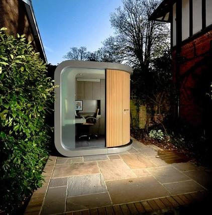 contemporary prefab studios by OfficePOD