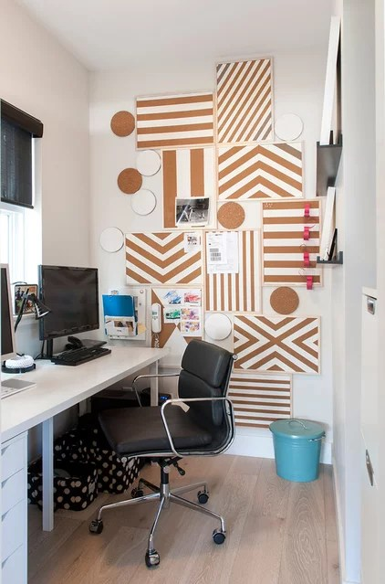 Contemporary Home Office by Heather Merenda