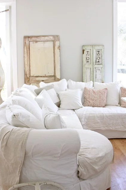 White Slipcovers For Pure Practicality