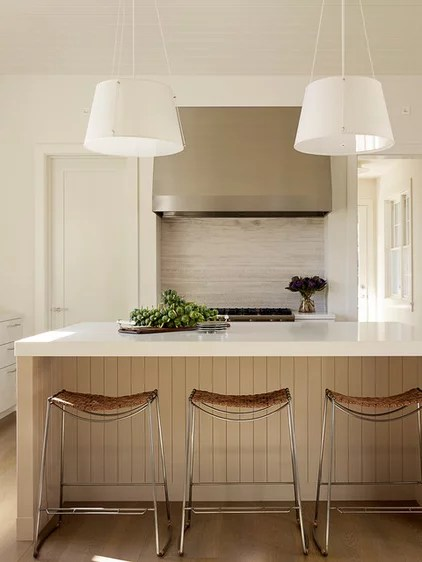 Transitional Kitchen by Andrew Mann Architecture