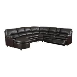 4087 modern bonded leather sectional sofa with recliners starship power acpnicolesec - 6 pc nicole espresso ...