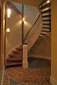 Entry and Enclosed Exterior Staircase
