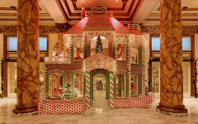 San Francisco's Fairmont Hotel Presents a Life-Size Gingerbread House