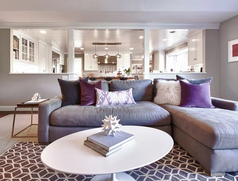 contemporary family room by Kriste Michelini Interiors