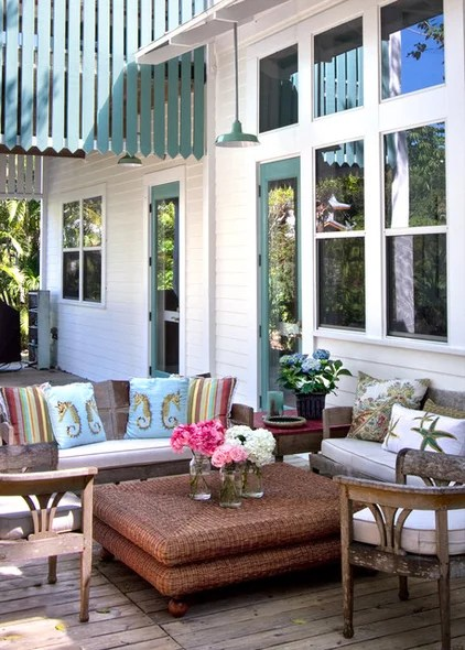 tropical porch by Barn Light Electric Company
