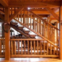Rustic Open Staircase Staircase Design Ideas, Pictures ...