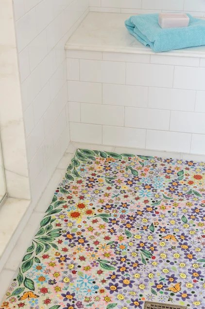 Shabby chic Bathroom by Alison Kandler Interior Design