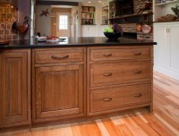 Quarter Sawn White Oak Cabinets/Hickory Floor