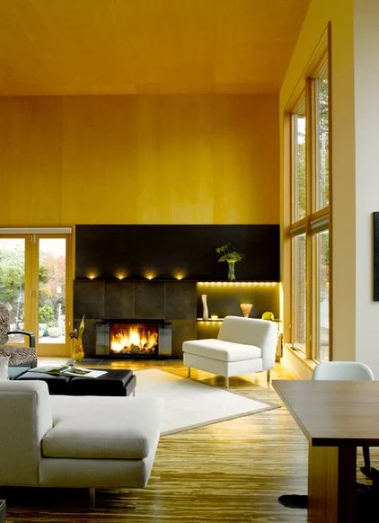 Modern Living Room by Mohler + Ghillino Architects