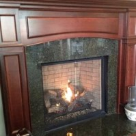 Gas Direct Vent Fireplace - This is a Lennox direct vent ...
