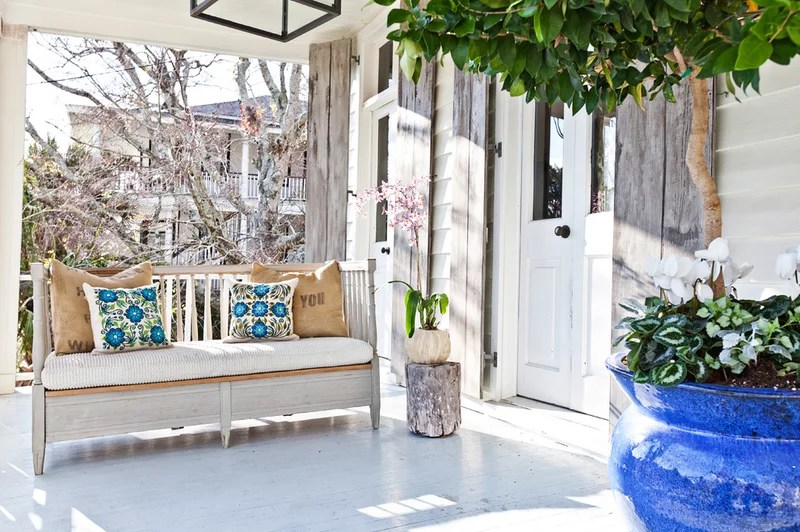eclectic porch by Cortney Bishop Design