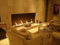 Fireplace inside walls.