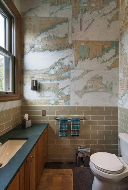 beach style bathroom by Sandvold Blanda Architecture + Interiors LLC