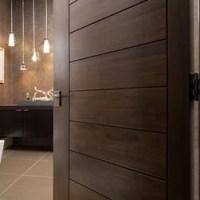 Las Vegas Modern Home - Interior Solid Wood Walnut Door ...