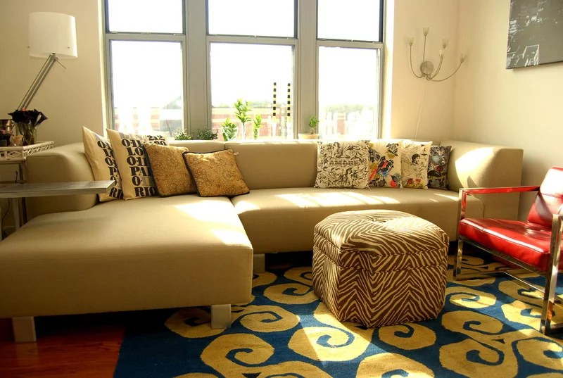 eclectic living room by Nicole Lanteri, On My Agenda LLC