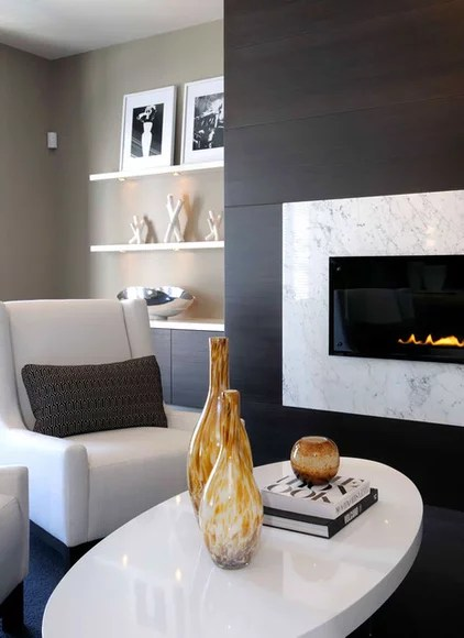 contemporary family room by Atmosphere Interior Design Inc.