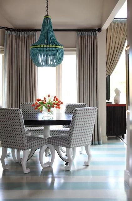 Contemporary Dining Room by Tobi Fairley Interior Design