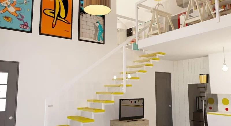 contemporary staircase by Praktyczne i Piękne